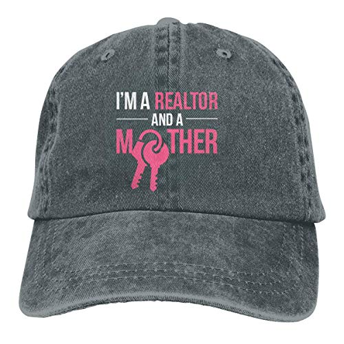 shenguang Je suis Un Agent Immobilier et mère Casquette Baseball Dicer Vintage Casquette réglable Casquette Cowboy Hat Shading Fonction Unisexe