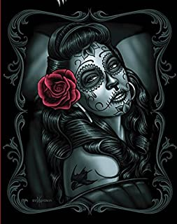 DGA Day of the Dead Signature Collection Super Soft Queen Size Plush Blanket - Jaded