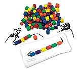 Learning Resources- Set de Tarjetas para Establecer Patrones con Cuentas, Color (LER0139)