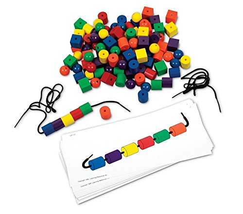 Learning Resources Beads and Patterns Card Set, 130 Pieces