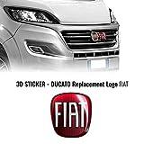 AMS 14237 Adhesivo Fiat Professional 3D Repuesto Logo para Ducato
