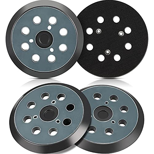 4 Pieces 5 Inch 8 Hole Replacement Sander Pad Sander Hook and Loop Replacement Sanding Pad Compatible with Makita BO5010, BO5030K, BO5031K, BO5041K