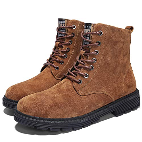AMDRS Heren Worker Klassieke Laarzen Waterdicht Duurzame Lichtgewicht Laarzen Mode Leer Lace Up Boot Mannen Knappe Laarzen