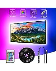 LED TV Backlight, SHOPLED 3M LED Strip USB TV LED Light for 40-60 inch RGB 5050 Bias Lighting LED Lighting for HDTV, TV Screen, PC
