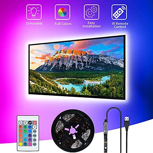 Tiras LED USB 3M,SHOPLED SMD 5050 Luz de fondo de TV led para iluminación de RGB de 40-60 Pulgada LED para HDTV, pantalla de TV, PC