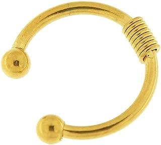 316L Surgical Steel Twin Circle Circular Fake Septum Nose Ring Piercing