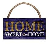 Wincraft NFL Schild aus Holz Baltimore Ravens Holzschild Wood Slogan Home Sweet Home