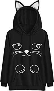 Girls Hoodie, Misaky Womens Cat Ear Blouse Sweatshirt Hooded Pullover Tops