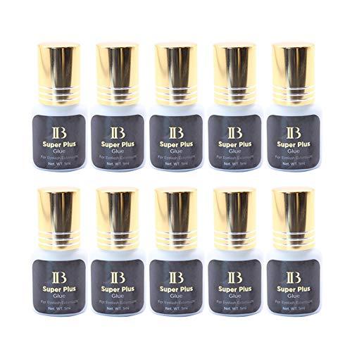 100 Bottles Eyelash Extensions ibeauty Super Plus Glue 5ml, 1-2 Sec Drying Time, Keep 5-6 Weeks, Low Smoke, Professional Eyelash Extension Glue