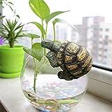 donau Garden Statues Turtle Figurines Polyresin Garden Sculpture Hanging Turtle Decor 3.15 inches