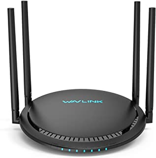 1200Mbps Smart WiFi Router, WAVLINK AC1200 Dual-Band Gigabit Ethernet Router 5Ghz + 2.4Ghz Gaming WiFi Router High Speed W...