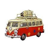 Yuan Ou Hucha Caja de Monedas con Forma de autobús Vintage Memoria Infantil nostálgica Regalo de Arte de Metal Decoración del hogar para niños Niños Rojo