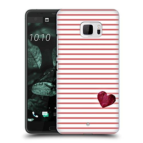 Head Case Designs Licenciado Oficialmente Monika Strigel Rojo Corazón pequeño Carcasa rígida Compatible con HTC U Ultra/Ocean Note