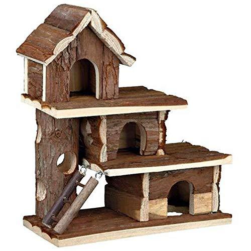 EQT-TEC XL Nager Spielhaus Hamster Maus Rennmaus Klettergerüst Spielzeug Kleintier Holz