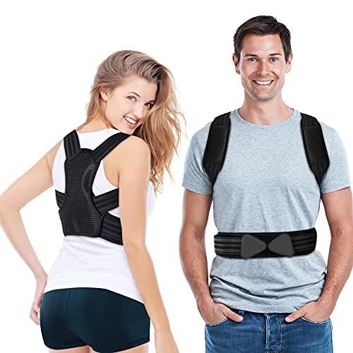 Corrector Postura Espalda, Corrector de Espalda Ajustable para Mujers y Hombres,...