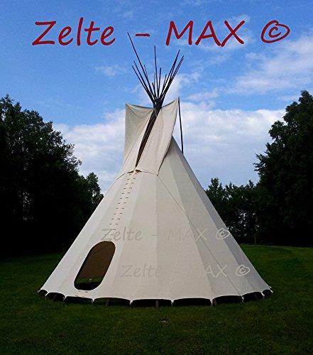 komplettes Ø 7m Tipi Indianerzelt Wigwam Indianer Zelt Sioux, YAKARI Style Indianertipi