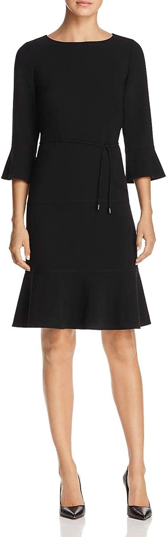 Hugo Boss BOSS Womens Bell Sleeve Fit & Flare Cocktail Dress