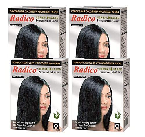 Radico Herbal Based Black Hair Color (Ammonia Free) - Set of 4