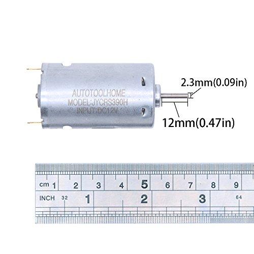 AUTOTOOLHOME Mini DC 12V Electric Hand Drill Motor PCB & Twist Drills Set 1/88-1/6 inch JT0 Chuck Jewelry Craft Drill Kit