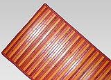 CapitanCasa Tappeto Bamboo Degradé Antiscivolo con Bordo Resistente Ai Lati 50x120 cm Rosso