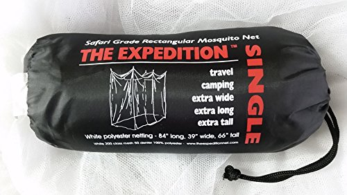 Expedition 84x39x66-Inch Rectangular Mosquito Net, White