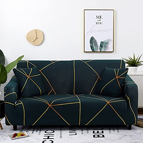 PPOS Funda de sofá elástica a Cuadros Fundas de sofá elásticas para Sala de Estar Funda de sofá para Silla D1 4 Asientos 235-300cm-1pc