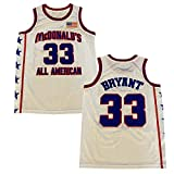 Men's McDonald's All American 33 Bryant Blue White Basketball Jersey (White, L)