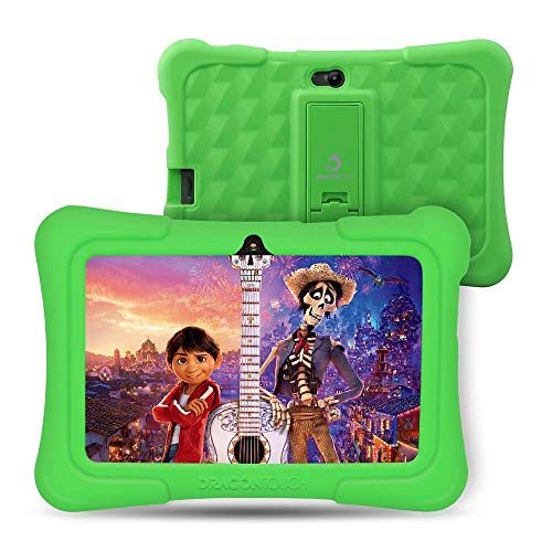 Dragon Touch Y88X Plus Kids Tablet 16 GB 2019 Edition, 7 inch HD IPS Display Touchscreen Kidoz Pre-Installed with All-New Disney Content - Green