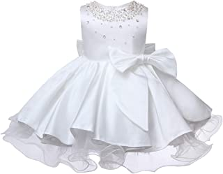 ZTXHRS Baby Girl Dresses for Party Princess Christening Birthday Gown Beaded Infant Baptism Dress
