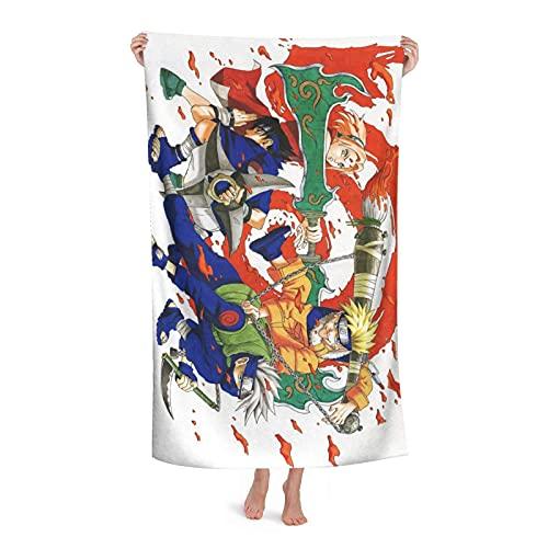 Hombres Mujeres Toalla de playa ultracompacta Anime Na-Ru-To Sasuke Uchiha Sakura Haruno Póster Toalla plegable de secado rápido Hipster Toalla de yoga para gimnasio Crucero Uso en el hogar,80x130cm