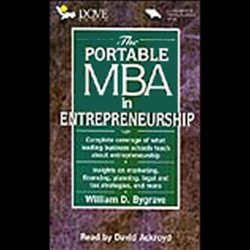 The Portable M.B.A. in Entrepreneurship audiobook cover art