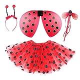 Danballto Ladybug Costume for Toddler Girls Tutu Wings Kids Dress Up...