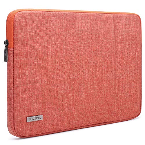 KIZUNA Laptop Sleeve 15-15.6 Inch Water-Resistant Computer Case Carrying Bag for 16' MacBook Pro/15.6' Lenovo Yoga 730/Lenovo LEGION Y7000P/Ideapad 330S/ThinkPad T580/15.6' HP EliteBook 755 G5, Orange