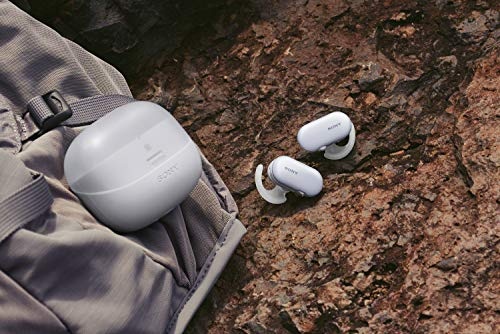 Sony WF-SP900 True Wireless Sport Kopfhörer (kabellos, IPX8 wasserdicht, Salzwassergeschützt, Bluetooth, 4GB Speicher) weiß