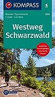 KV WTK 2505 Westweg Schwarzwald 1:50 000 LZ 2021 - 2025: Wander-Tourenkarte. GPS-genau. 1:50000