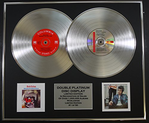BOB DYLAN/Cd doble Disco de Platino Record Display/Edicion LTD/Certificato di autenticità/BRINGING IT ALL BACK HOME & HIGHWAY 61 REVISITED