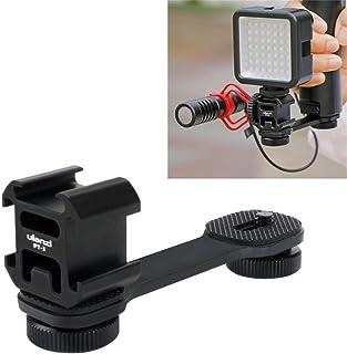 Ulanzi 3 en 1 Adaptador de Zapata Triple 3 en 1 Soporte para micrófono by-MM1 Soporte para luz de vídeo LED para zhiyun Smooth 4