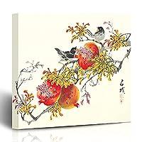 """キャンバスプリント中国の署名抽象的なアジアの新しい伝統的な絵画描画年インク日本韓国の中国輸送壁アート12x12インチ装飾絵画アートワーク 在宅リビングルーム寮 LIUM (Color : Vi0950, Size : 12""""W x 12""""L)"""