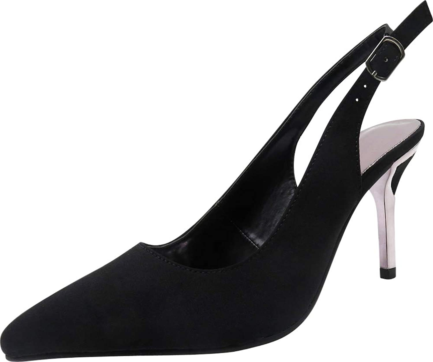 Cambridge Select Women's Pointed Toe Slingback Stiletto High Heel Pump