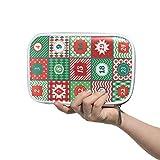 Großes Federmäppchen Weihnachten Adventskalender Stifteetui Büro College Schule große Stauraum Tasche Kosmetiktasche Beutel Box