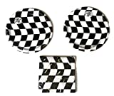 Open Wheel Indy Car Racing Checkard Flag Party Plates (16) Napkins (16)