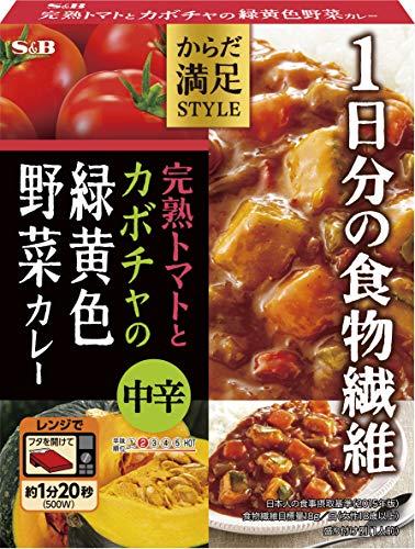 エスビー食品 からだ満足STYLE 完熟トマトとカボチャの緑黄色野菜カレー 中辛 180G ×6箱