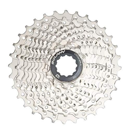 LnNyRf Leichtes Fahrrad Schwungrad 11 Speed Cassette Rennrad Freilauf 11-32T Fahrradteile 22S Schwungradketten (Color : Black Cover)