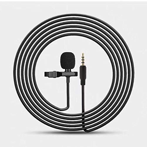 YOUNGE Micrófono de clip de 3,5 mm, tipo C, para teléfono, con cable, condensador, clip de micrófono