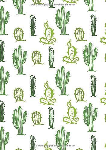 Bullet Journal: Cuaderno Punteado A5 - para Tomar Notas, Lettering, Caligrafía, Bocetos (Serie de Diseño Cactus)