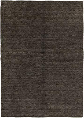 HAMID moderner Teppich Gabbeh – wollteppich Farbe schwarz (140x200cm)