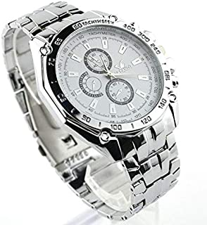 Men sports watches quartz hours date hand clock men full steel wristwatch