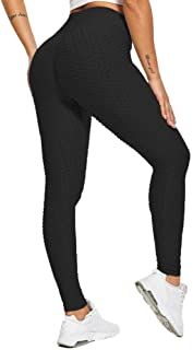 Pantalon de Yoga Taille Haute pour Femmes Leggings de Gymnastique Froncés Collants..