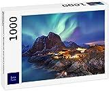 Lais Puzzle Aurora Boreal / Aurora Boreal en Las Islas Lofoten, Noruega 1000 Piezas