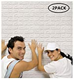 Arthome 3D Pegatina Pared ladrillo 77x69cm Autoadhesivo Grueso Panel Pared Impermeable, DIY Wall...